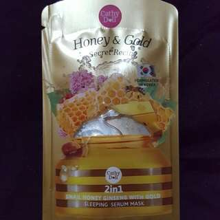 Cathy Doll Snail Honey Ginseng with Gold Sleeping Serum Mask