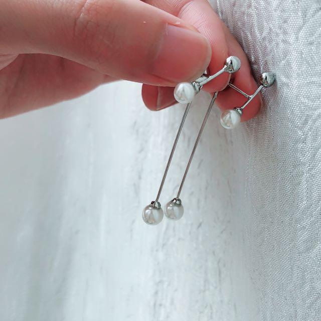 簡約珍珠耳環