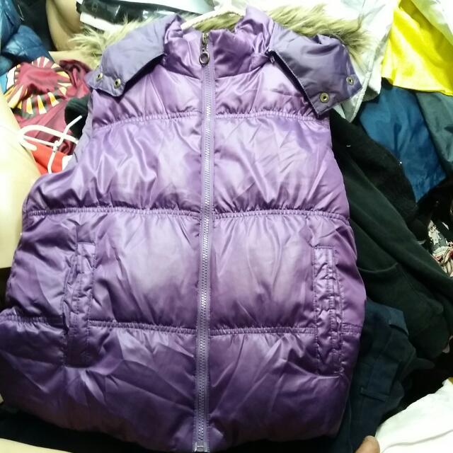 專櫃 紫色羽絨衣背心