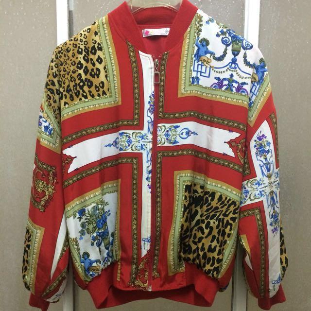👫👬👭情侶親子*早期 復古 古著 天使 豹紋 花卉 襯衫 宮廷 巴洛克 秋冬 外套