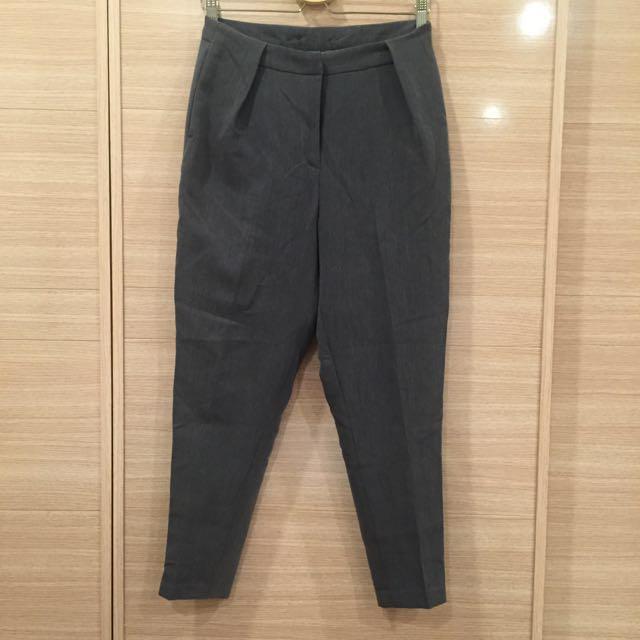 🔹全新🔸貓咪曬月亮 深灰厚磅老爺褲 男友褲 size:L