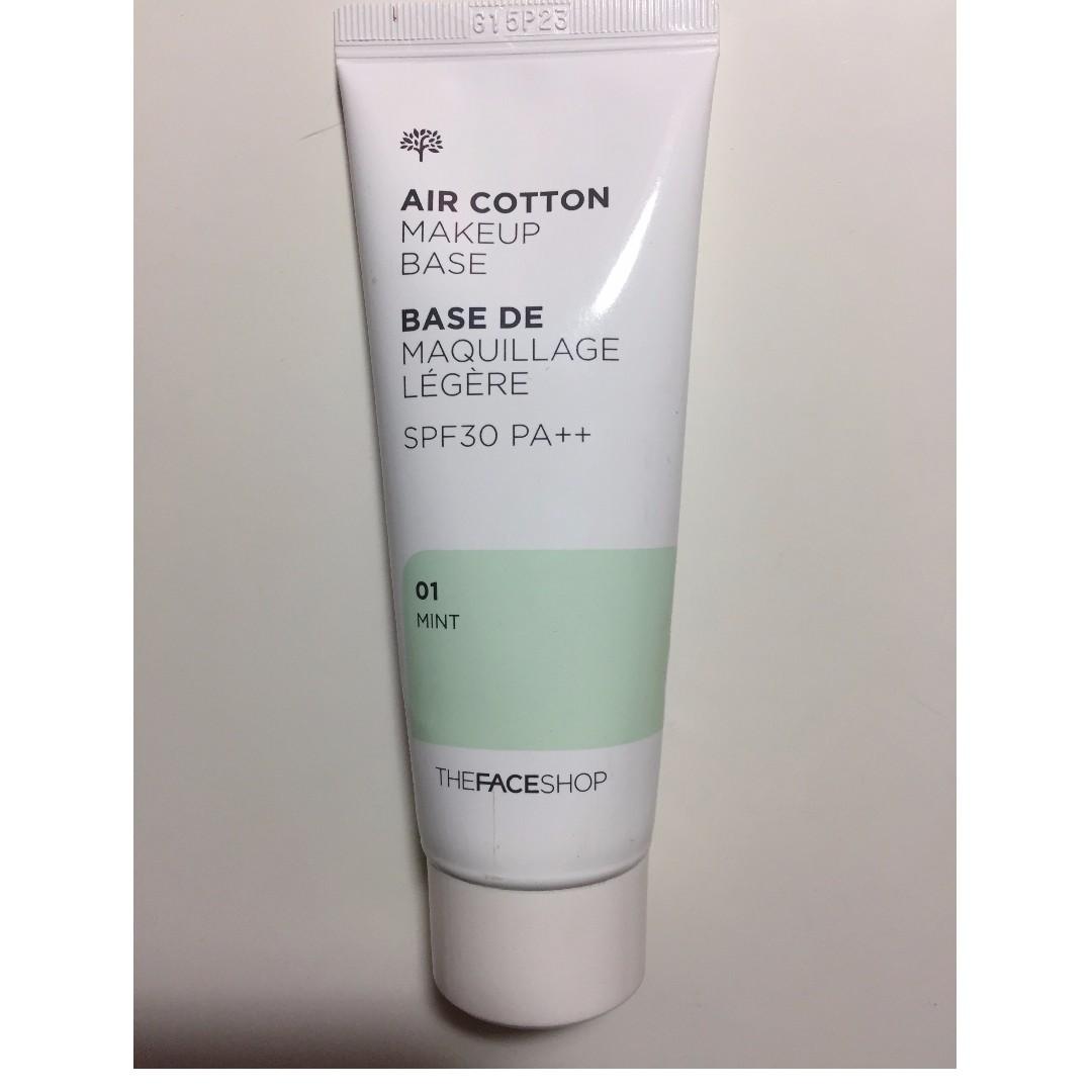 The FaceShop (Korean) Air Cotton Makeup Base (Mint)
