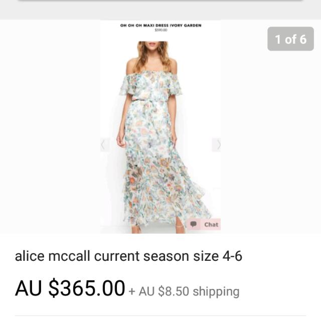alice mccall new season oh oh oh dress