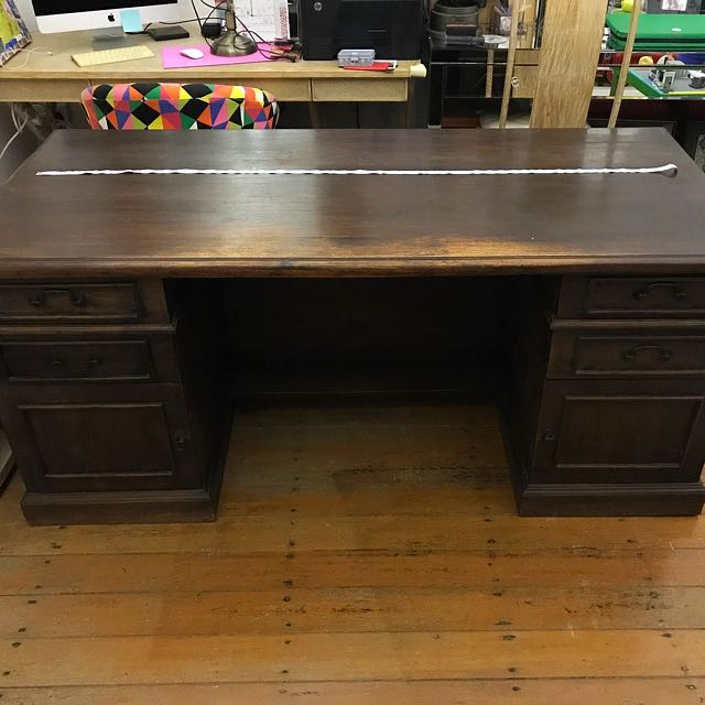 photo photo ... - Antique Study Desk, Furniture, Tables & Chairs On Carousell