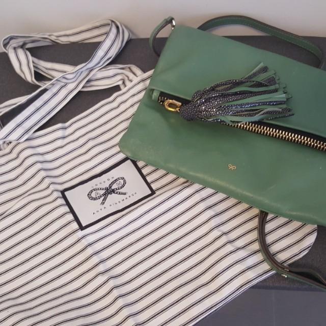 MARKDOWN! Anya Hindmarch leather clutch/bag