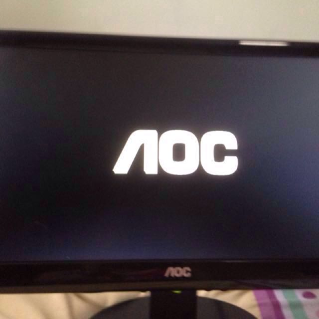 aoc monitor and plug only, Electronics, Computers on Carousell
