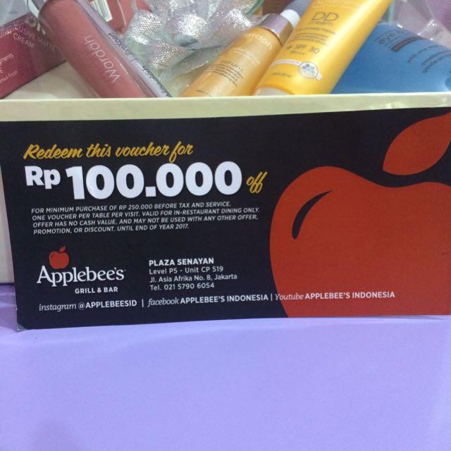Applebee's voucher