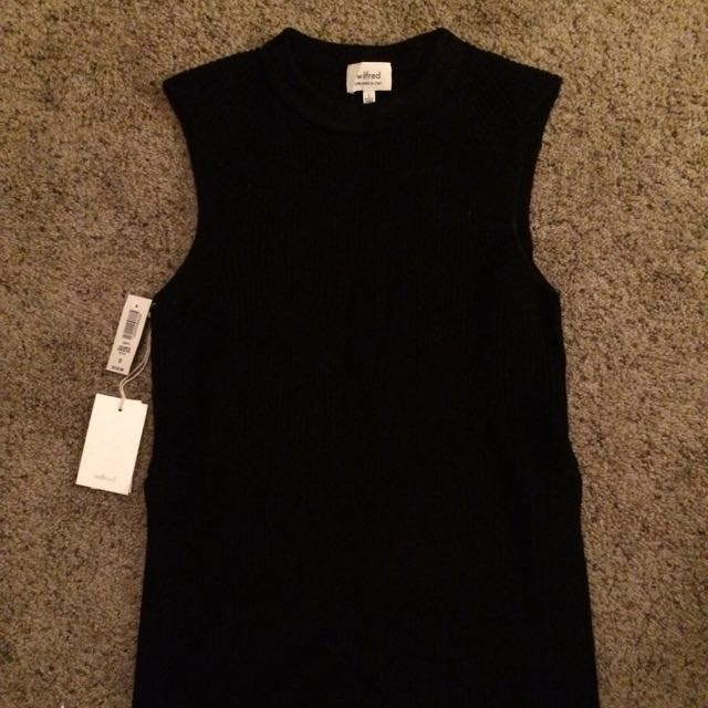 Aritzia Wilfred Palmier Sweater Black Size Small