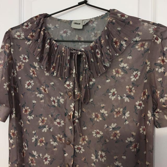 ASOS see through blouse