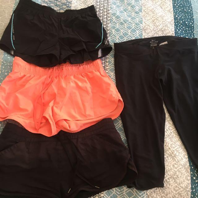 Assorted gym shorts- 2 remaining!