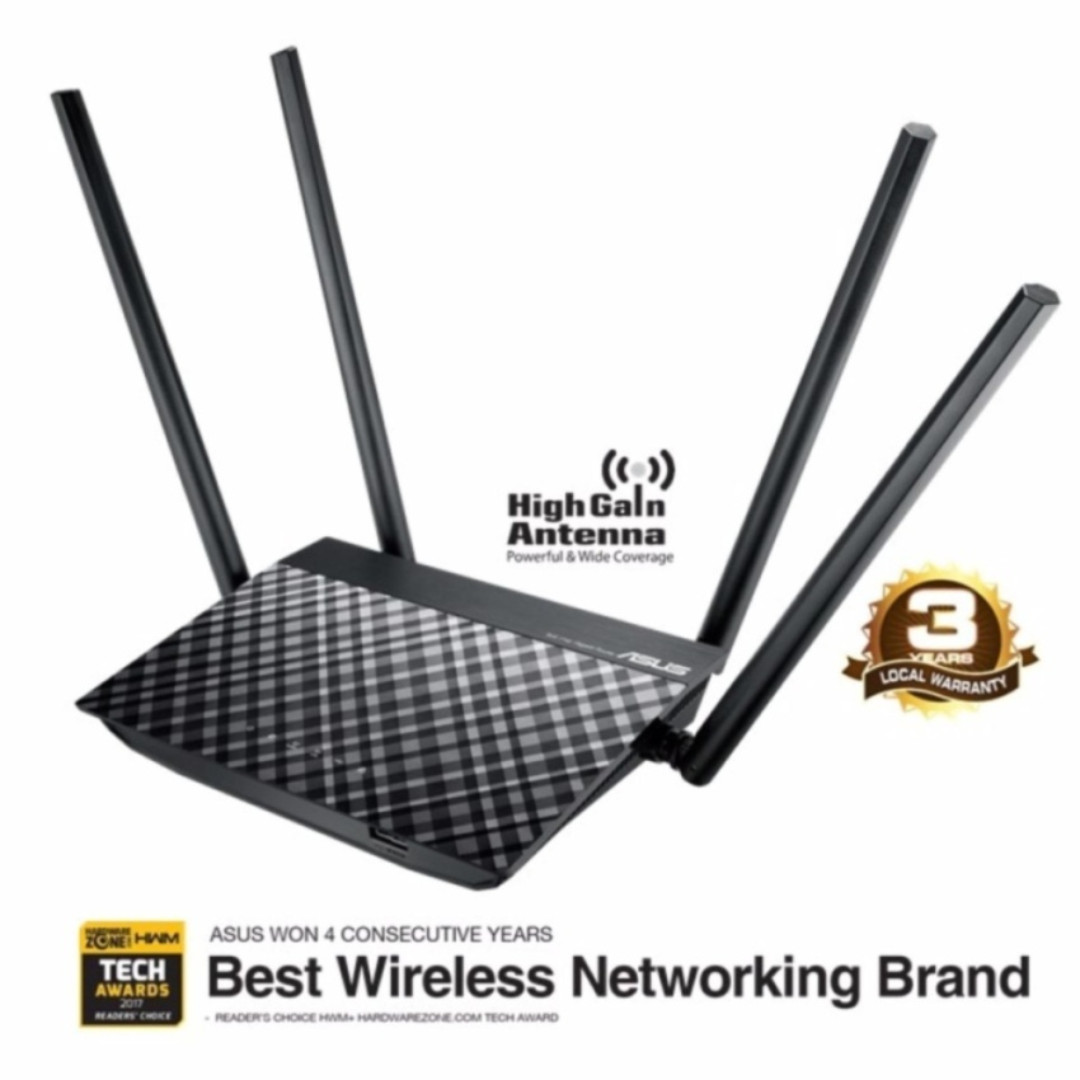 Asus Rt Ac1300uhp Ac1300 Dual Band Wi Fi Router With Mu Mimo And Wireless N N12 Plus Parental Controls Electronics Computer Parts Accessories On Carousell