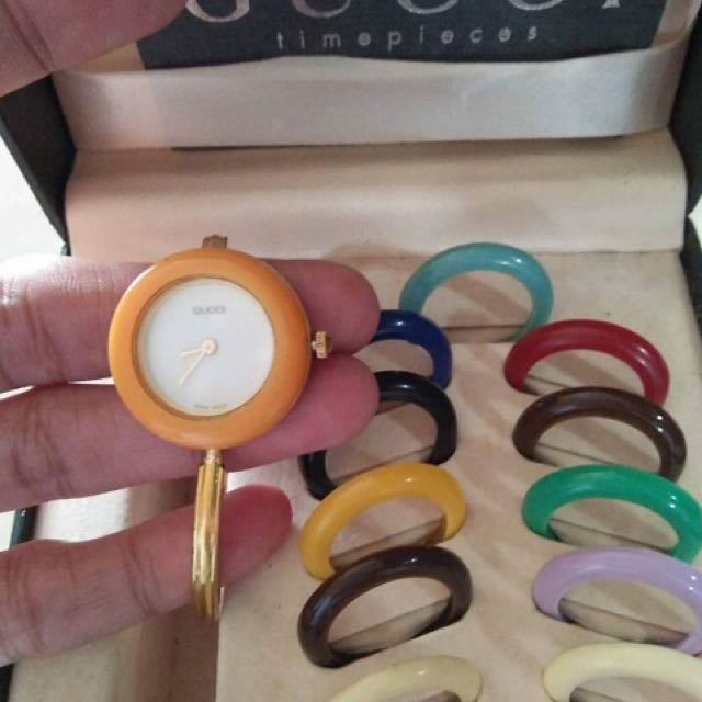 Authentic Gucci Gold Bangle watch