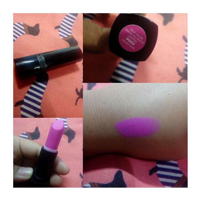 AUTHENTIC Avon True Color Perfectly Matte Lipstick (P003 ELECTRIC PINK)