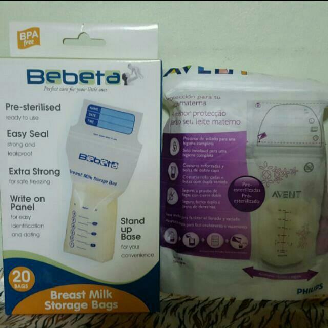 Bebeta Milk Storage Bags