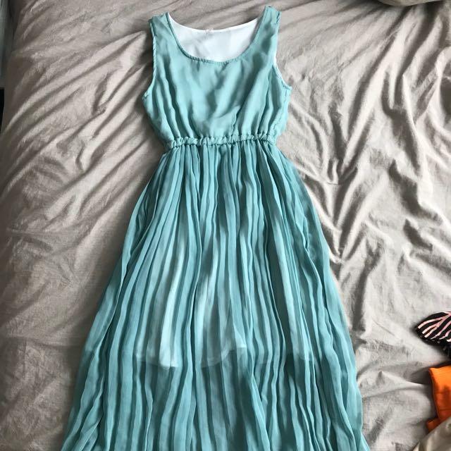Below knee length dress