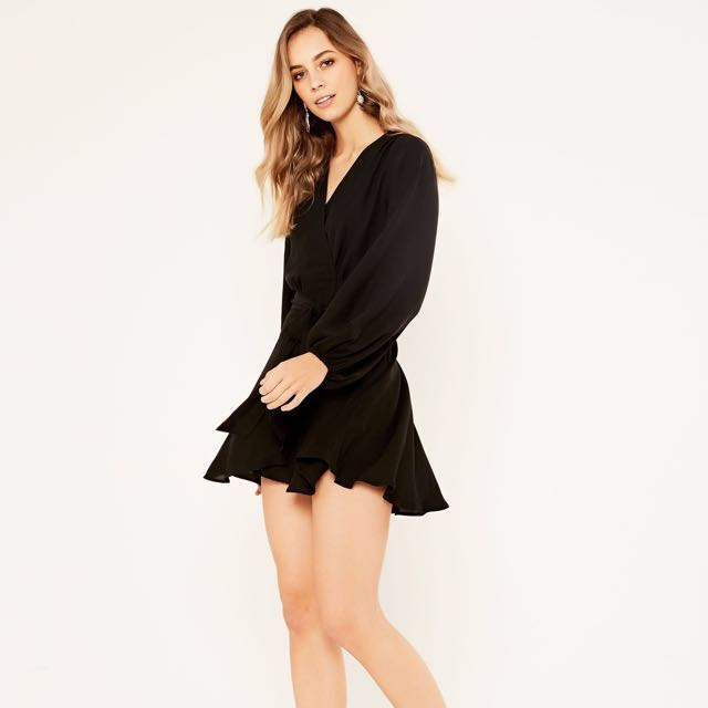 Black Glassons wrap dress