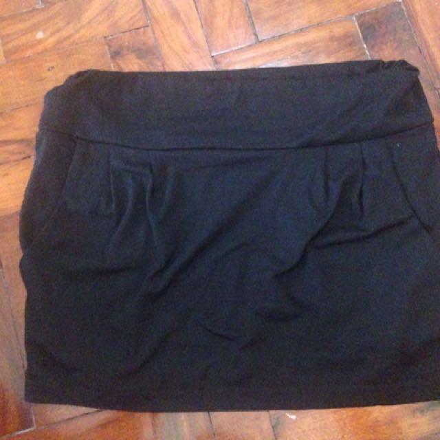 Black sheep mini black skirt cotton