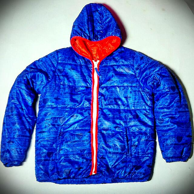 Blue Moon Blue Down Jacket Hoodie Casual