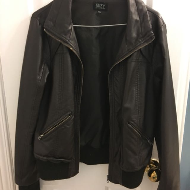 Brown Suzy Shier Leather Jacket