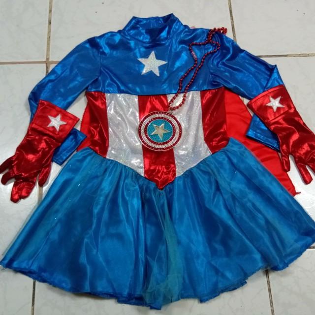 Captain America Girl Costume