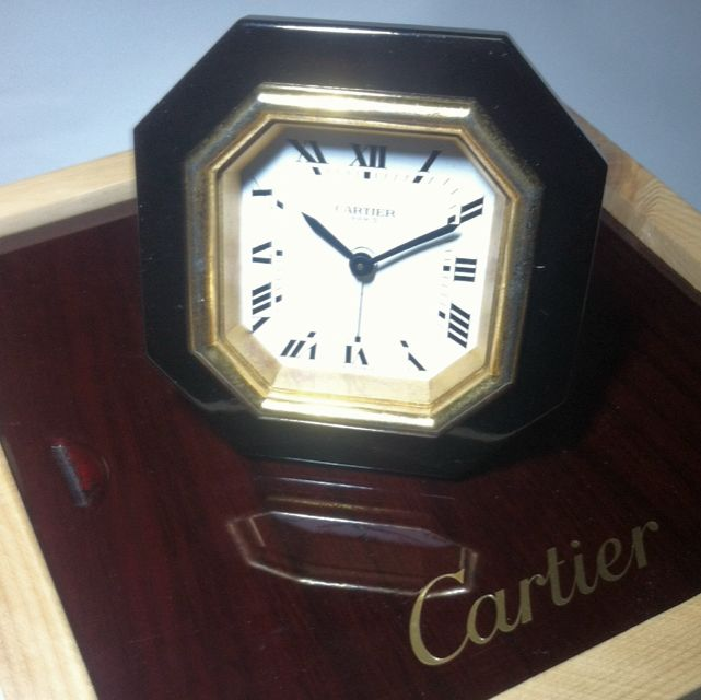 Cartier Wind Up Traveling Alarm Clock Vintage Collectibles