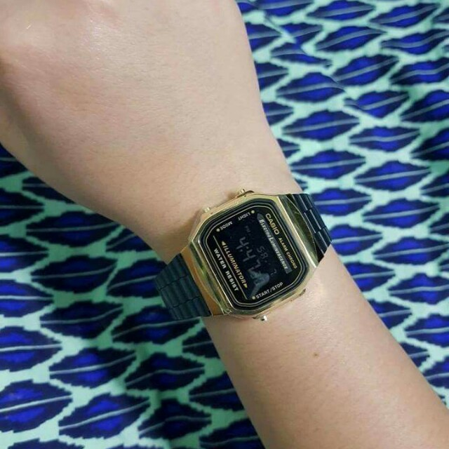 Casio Vintage Black and Gold