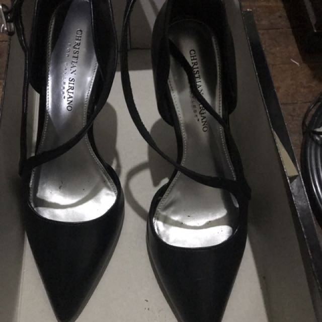 Christian Siriano Black Stilettos Size 8