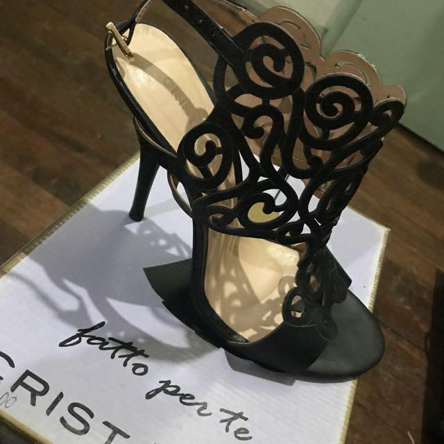Christofoli Black Stilettos