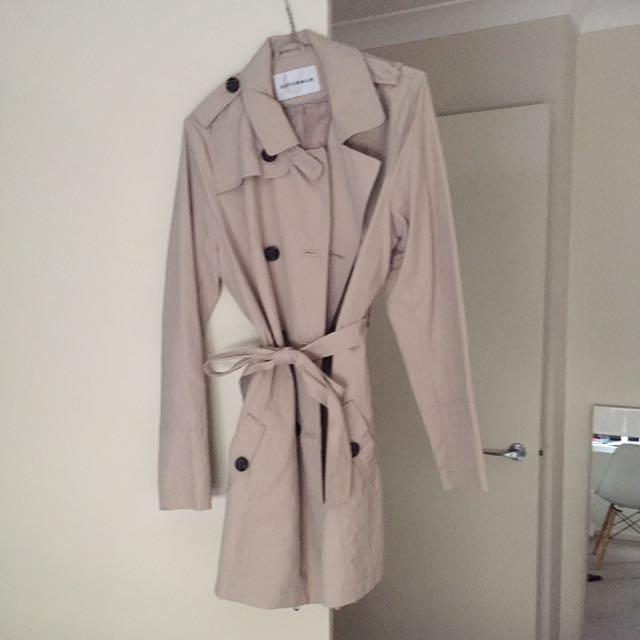 Cream/grey Office Attire Coat