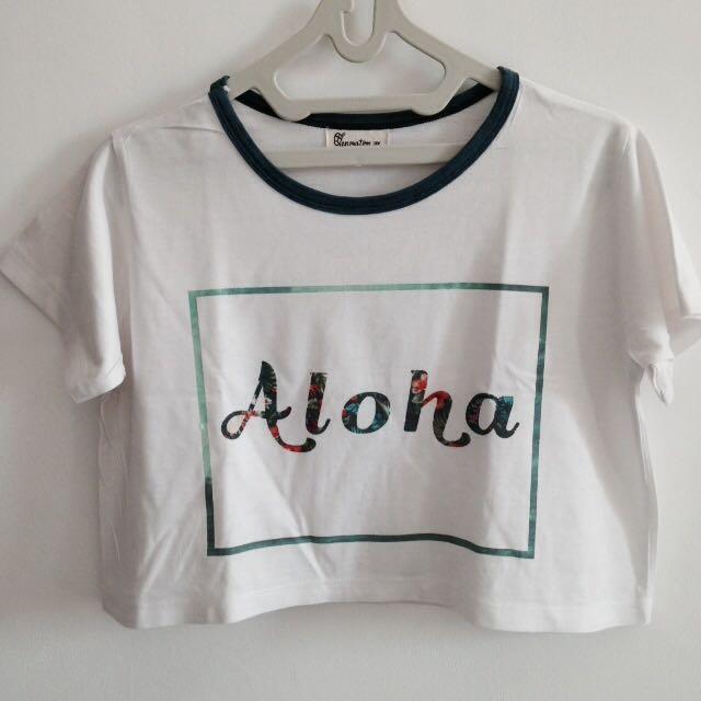 """Crop top shirt """"aloha"""""""