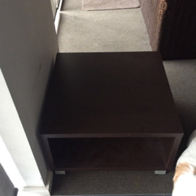 Dark Brown Bed Side Table
