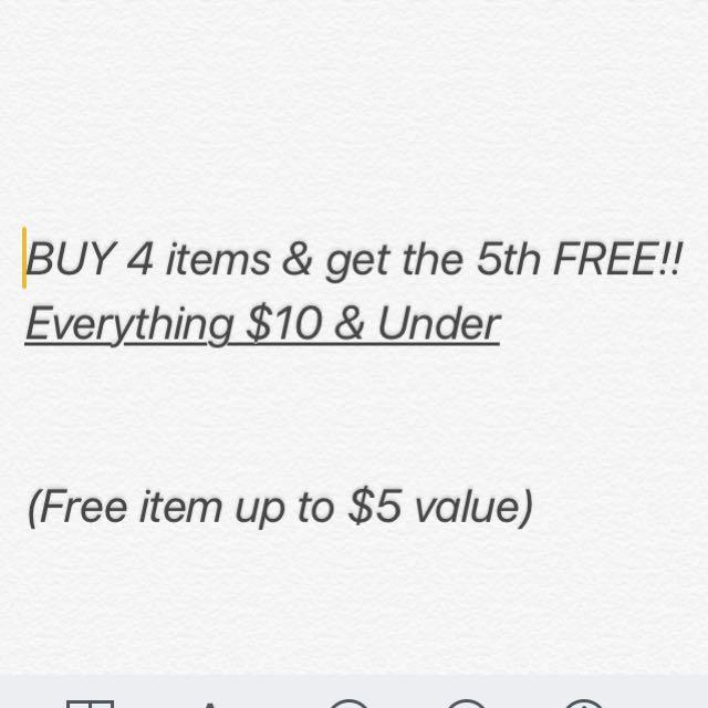 Everything $10 & Under SALE