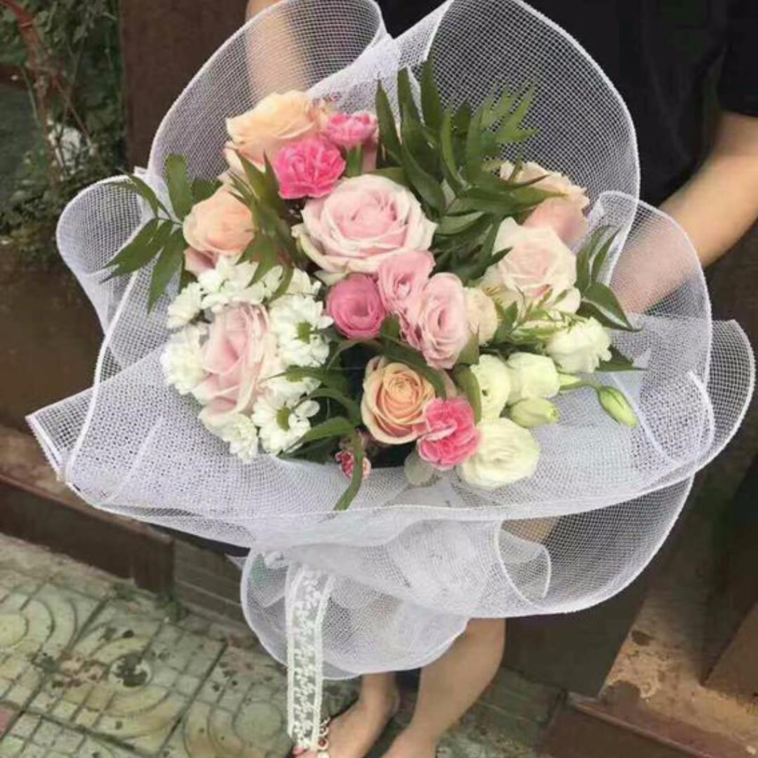 Flower Wrapping Paper Korea Netting Fnt033 Reka Bentuk Kraf