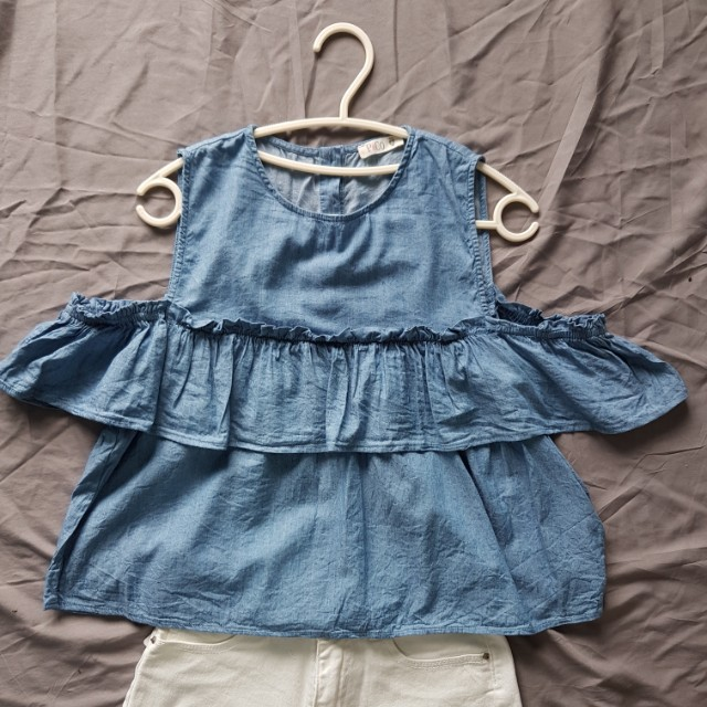 #FreePostage Padini Off Shoulder Denim Blouse