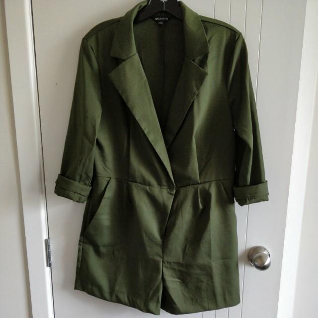 Green blazer romper