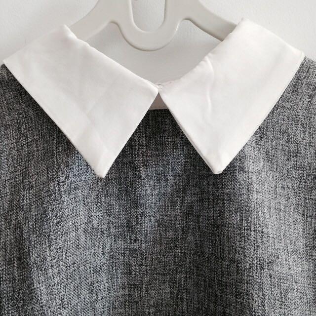 Grey-White Shirt Kerah