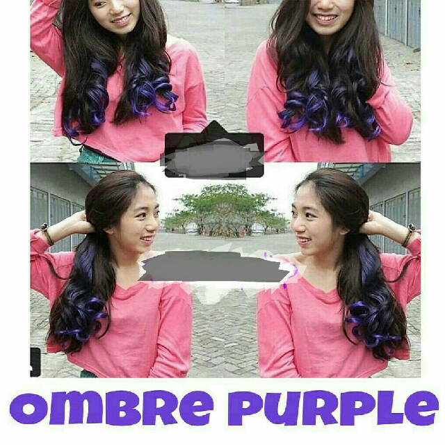 Hair Klip Curly Ombre Purple