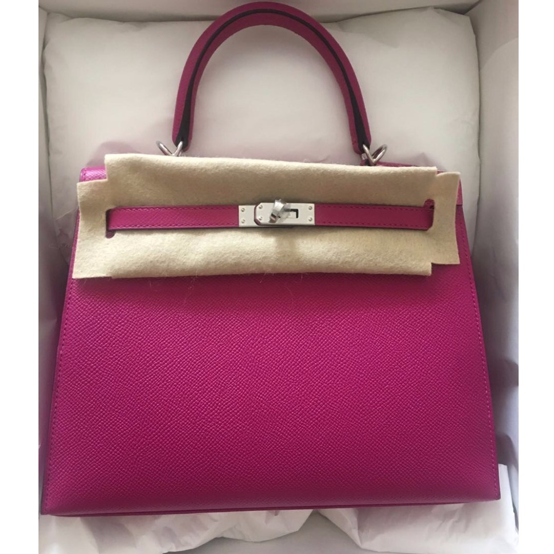 486bfc99564 ... cheap hermes kelly rose pourpe epsom phw stamp a womens fashion bags  wallets on carousell 2d9b2