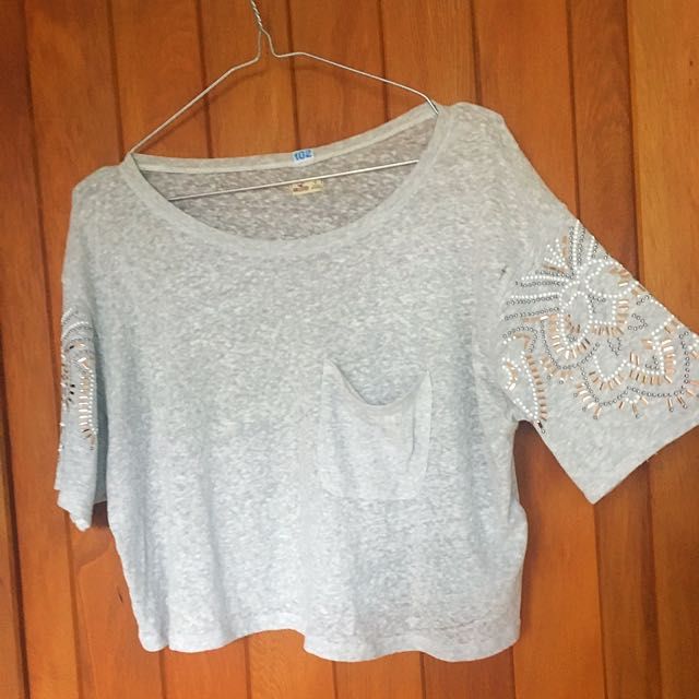 Hollister Embellishment Crop Top