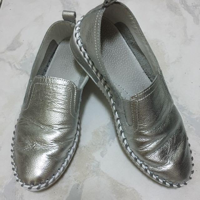 Home Shop正韓銀色休閒鞋
