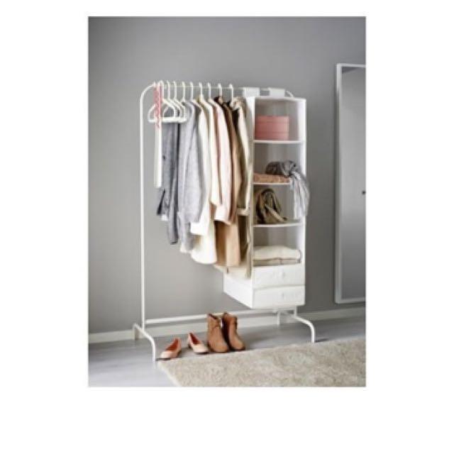 Ikea Mulig Clothes Rack Amp Hanging Drying Rack 99x46cm White