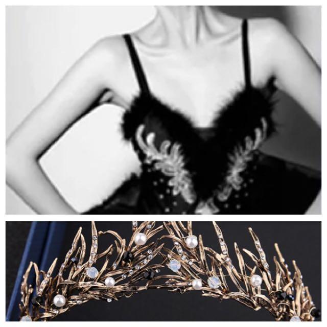 IN STOCK Black Swan costume ballerina costume black