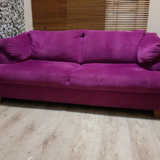 Jual sofa ungu