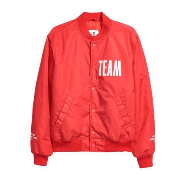 JUSTIN BIEBER TEAM BOMBER JACKET ORIGINAL USA! PO ONLY