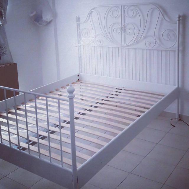 Leirvik Ikea King Size Bedframe Katil Rumah Perabot Di Carou