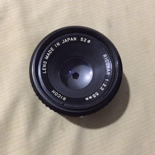 Lensa Fix Ricoh Riconar 55mm F2.2 manual #mauanalog