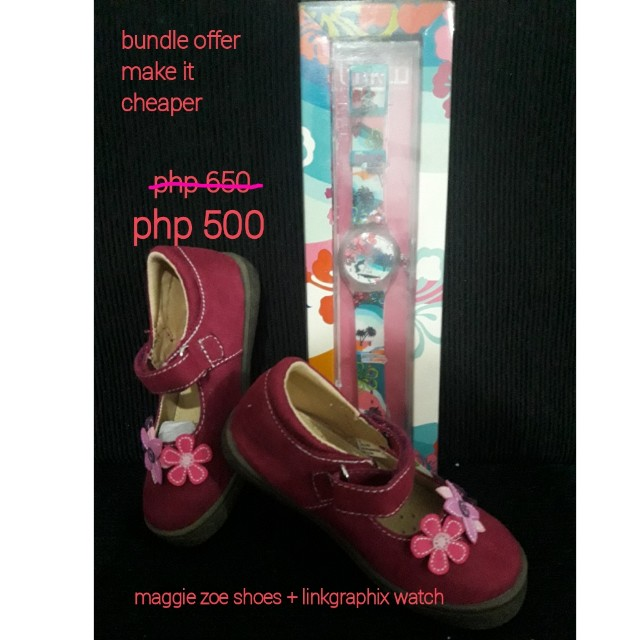 Maggie zoe shoes + watch