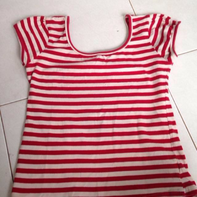 Mango teen stripes tee