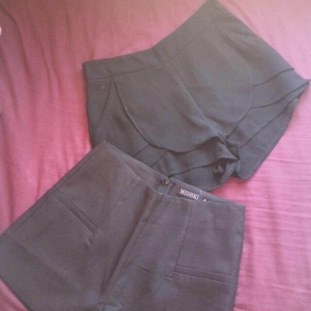 Meshki size 10 black shorts