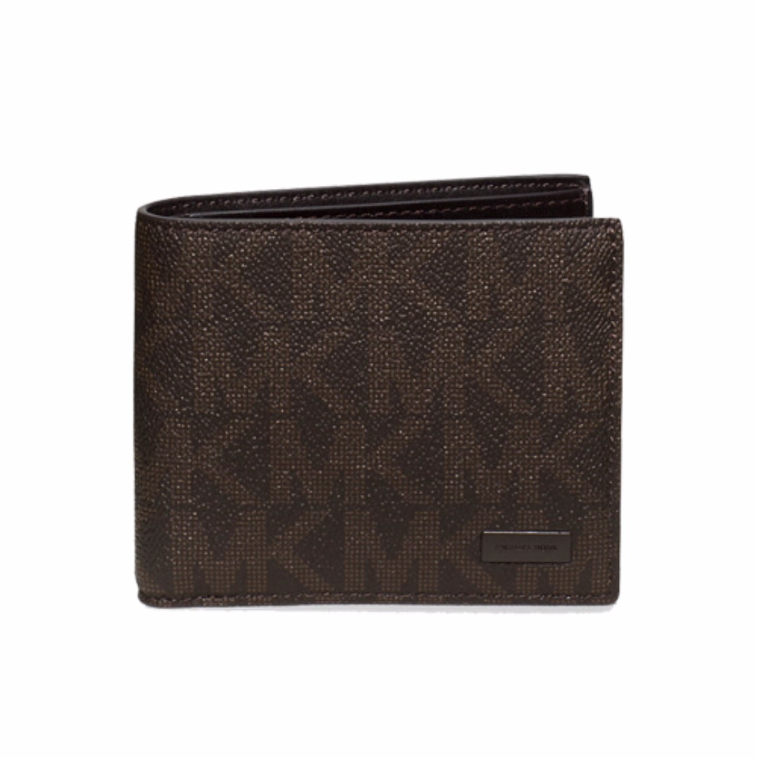6dabb3389eb9 Michael Kors Jet Set Mens Billfold Wallet With Passcase Brown